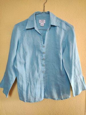Ann Taylor LOFT Blouse en lin bleu clair lin