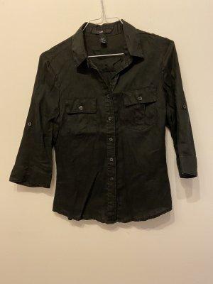H&M Linen Blouse black