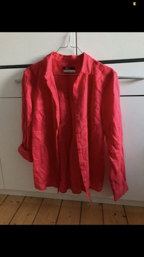 Gina Tricot Linen Blouse neon red