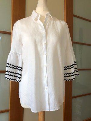 van Laack Linen Blouse white linen