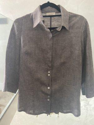 Sartoria Saracena Lniana bluzka jasnobrązowy