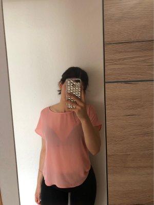 Defacto Linen Blouse rose-gold-coloured