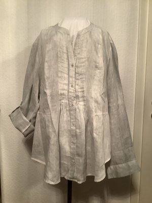 Open End Linen Blouse light grey linen
