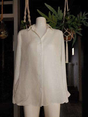 Uniqlo Blouse en lin blanc