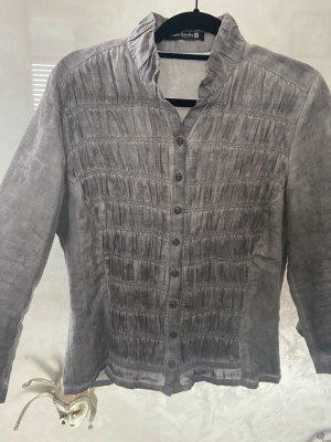 Betty Barlay Lniana bluzka srebrny