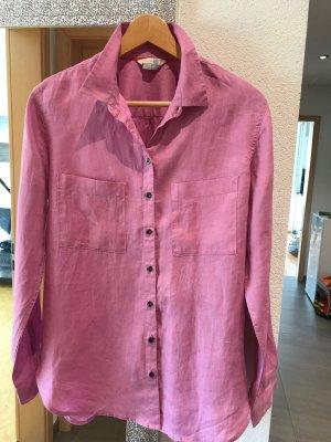 Boden Long Sleeve Blouse pink linen