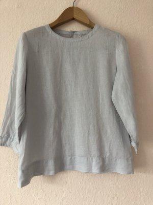 Muji Blouse en lin gris clair lin
