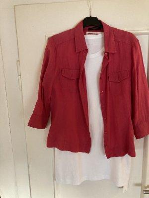 MaxMara Weekend Linen Blouse magenta linen