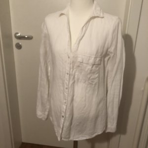 Zara Basic Linnen blouse wit