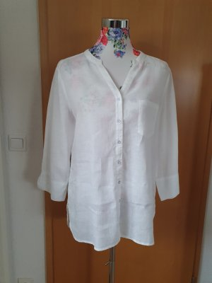 Cotton Club Blusa in lino bianco