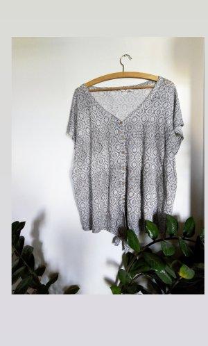 Artisan Linen Blouse white-black linen