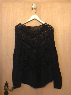 100% Fashion Linnen blouse zwart