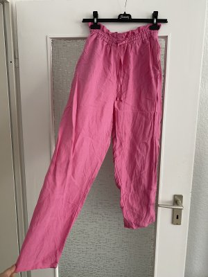 leinenchinohose in rosa / pink