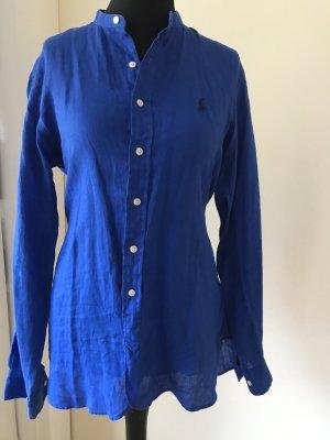 Leinenhemd, Polo Ralf Lauren, Gr. S, classic fit, royalblau