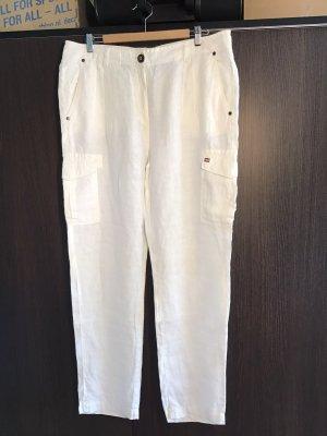 Gaastra Pantalón de lino blanco
