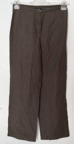 Cambio Pantalon en lin brun lin