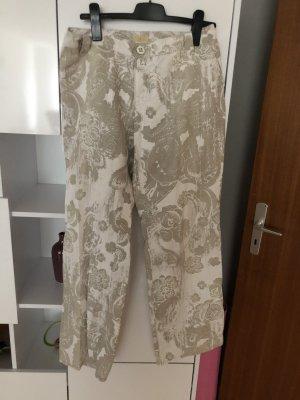 Pantalón de lino beige claro