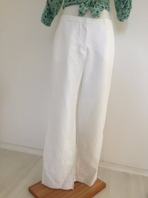 Hennes Collection by H&M Lniane spodnie biały Len