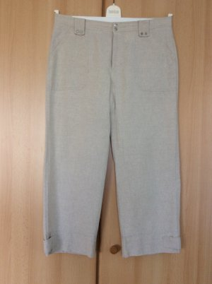 Mac Pantalone di lino bianco sporco-crema