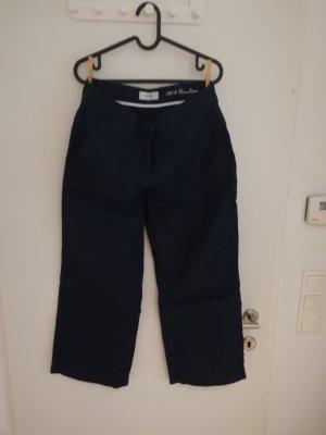 Brax Lniane spodnie ciemnoniebieski