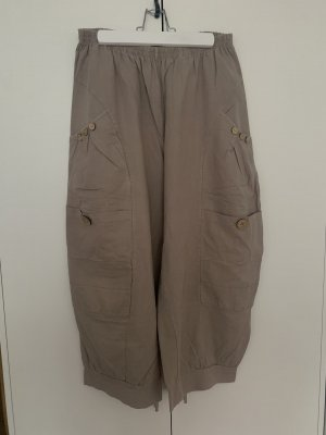 Made in Italy Pantalón de lino beige