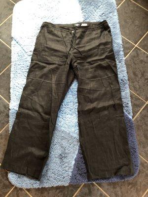 H&M Basic Pantalón de lino negro