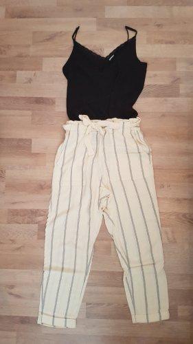 H&M Pantalone di lino crema-blu