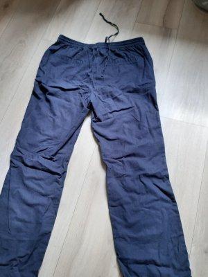 tchibo Pantalon en lin bleu foncé