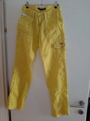 Cipo & Baxx Pantalon en lin jaune