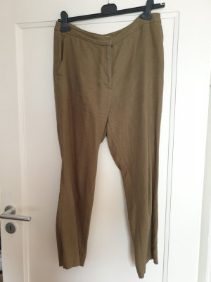 H&M Pantalon en lin vert olive
