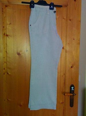 Biaggini Lniane spodnie jasnobeżowy