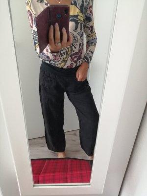 Pantalon en lin blanc-noir