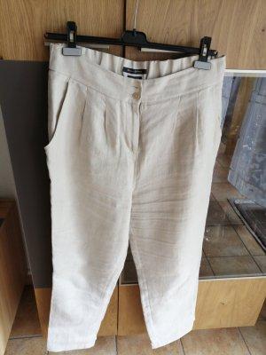 Marco Polo Pantalone di lino beige chiaro