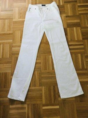 Armani Lniane spodnie biały