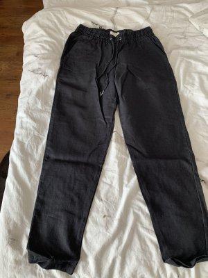H&M L.O.G.G. Pantalone di lino nero