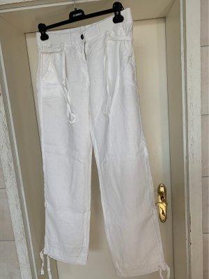 Napapijri Pantalon en lin blanc