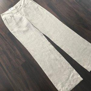 MAC Jeans Pantalone di lino crema