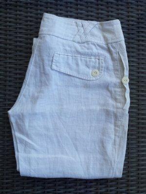 adilisk Pantalon en lin blanc-blanc cassé