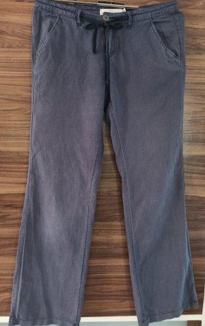 H&M Linen Pants slate-gray