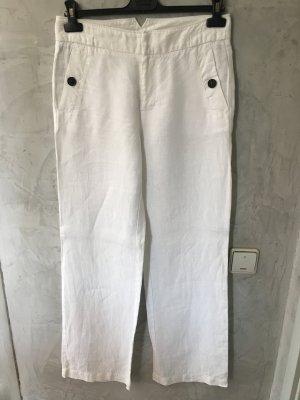 Comptoir des Cotonniers Lniane spodnie biały