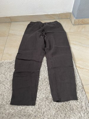 L.O.G.G. H&M High Waist Trousers dark grey-anthracite