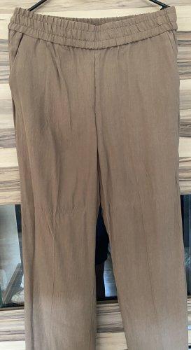 H&M Pantalon en lin ocre-bronze
