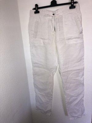 Zara Pantalon en lin blanc