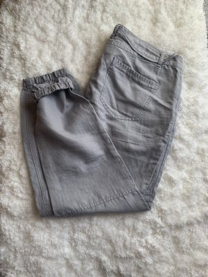 Esprit Linnen broek grijs-lichtgrijs
