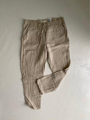 H&M Pantalone di lino beige chiaro