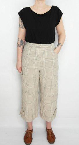 Leinenhose Gr. 36-38 beige Hose Culotte Vintage Lagenlook
