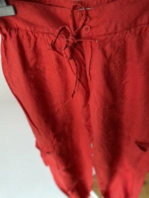Calvin Klein Lniane spodnie czerwony