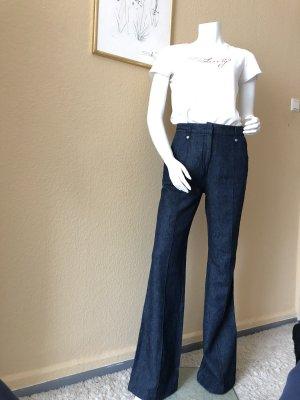 Linen Pants dark blue