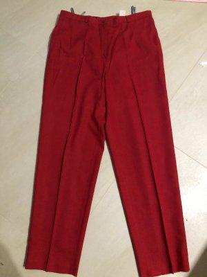Canda Pantalone di lino carminio-rosso mattone Lino