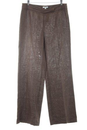 Pantalon en lin gris brun style décontracté